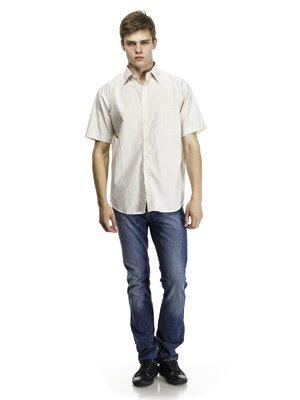Рубашка светло-бежевая | 418365