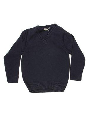 Пуловер темно-синій теплий | 712182