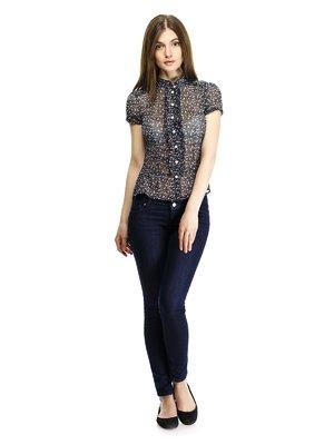 Блуза оригинальной расцветки с рюшами | 111251