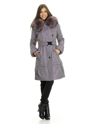 Пальто бузково-сіре | 734852