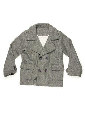 Пальто сіре двобортне | 597241