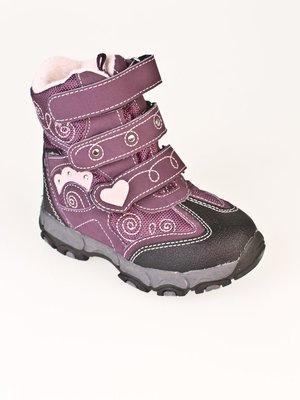 Ботинки двухцветные в рисунок   32689