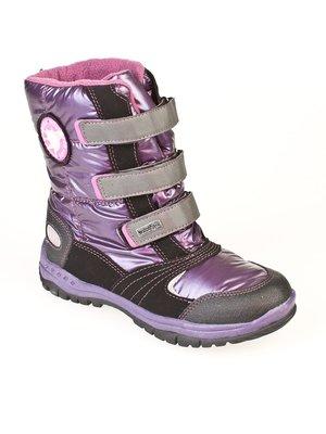 Ботинки фиолетово-черные   32691