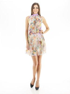 Платье цветочной расцветки плиссированное | 126850