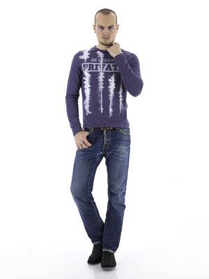 Джемпер фиолетовый с принтом | 75571
