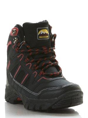 Ботинки черно-красные   206893