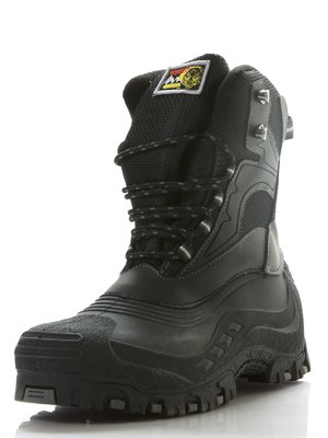 Сапоги черные на шнуровке   206904