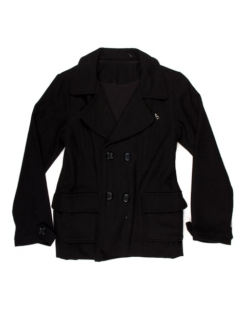 Пальто чорне De Salitto 853963