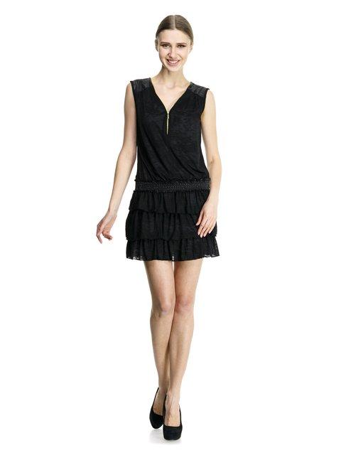 Сукня чорна з оборками Cache Cache 913494