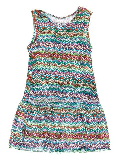 Платье разноцветное в зигзагообразную полоску Olimpia 973713