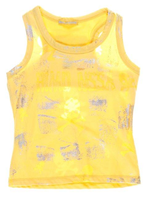 Майка желтая в принт Hoo Ponette 1051281
