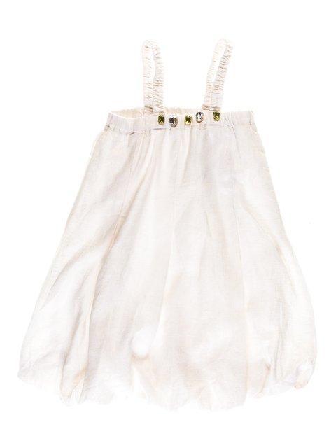 Платье бело-золотистое с  декором ColaBear 1051135
