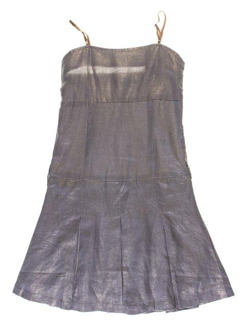 Платье  серо-золотистое ColaBear 1051129