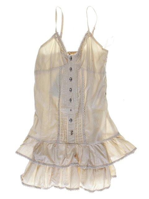 Платье бежевое с кружевной отделкой Himunssa 1051209