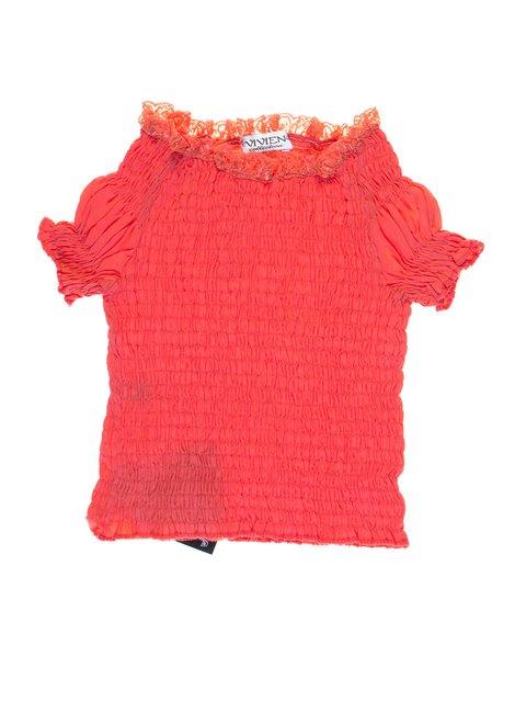 Блуза кораллового цвета Vivien 1076747