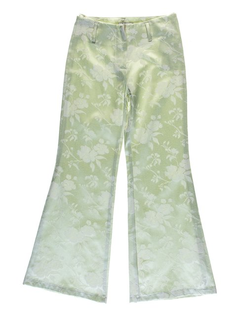 Штани світло-зелені в квітковий принт Vivien 1076752