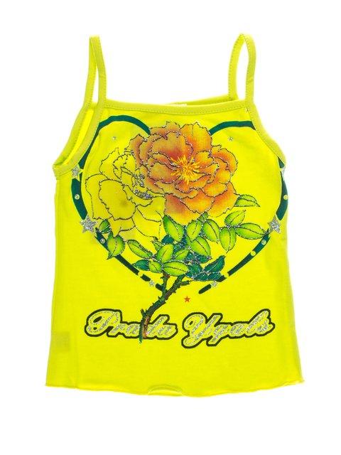 Майка салатово-желтая с принтом QIAN ZI YANG GUANG 1076625