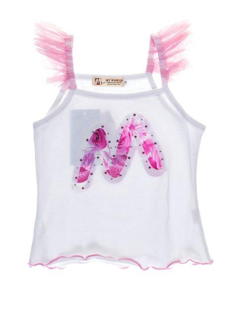 Топ біло-рожевий My Way 1076687