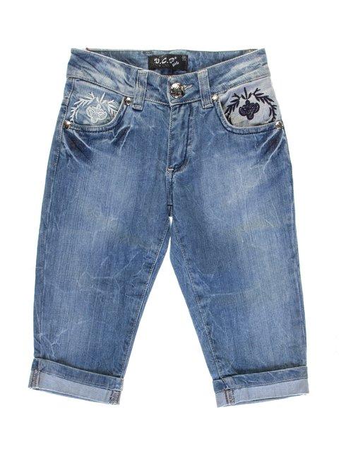 Капри синие джинсовые VCP 1076953