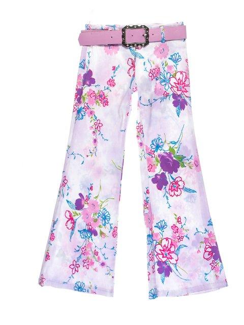 Штани бузкові в квітковий принт Vivien 1076778