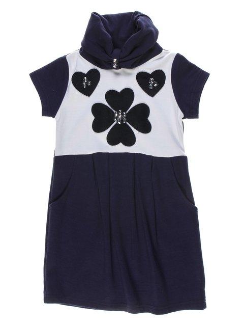 Сукня синьо-біла з декором De Salitto 1121046