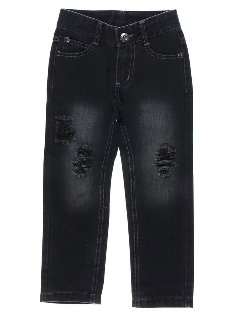 Джинси темно-сині з ефектом потертих і рваних De Salitto 1121018