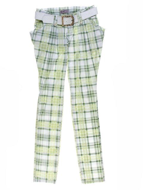 Штани зелено-білі у клітинку Gofi Kids 1076902