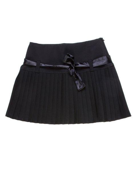 Спідниця чорна зі складками-плісе Vivien 1236820