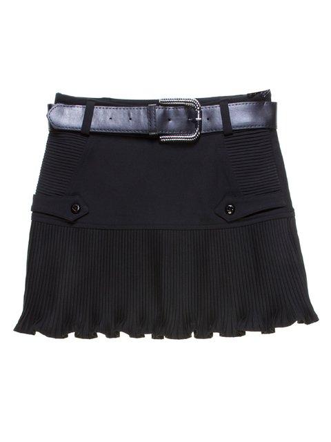 Юбка черная со складками-плиссе Vivien 1236990