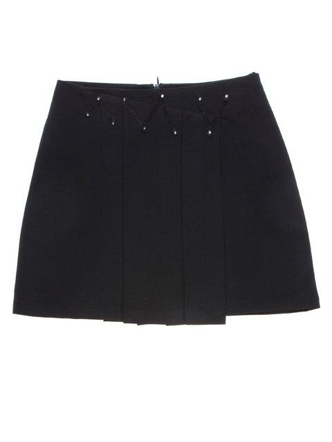 Юбка черная декорированная со складками Vivien 1236776