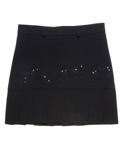 Юбка черная с декорированной отделкой Vivien 1236762