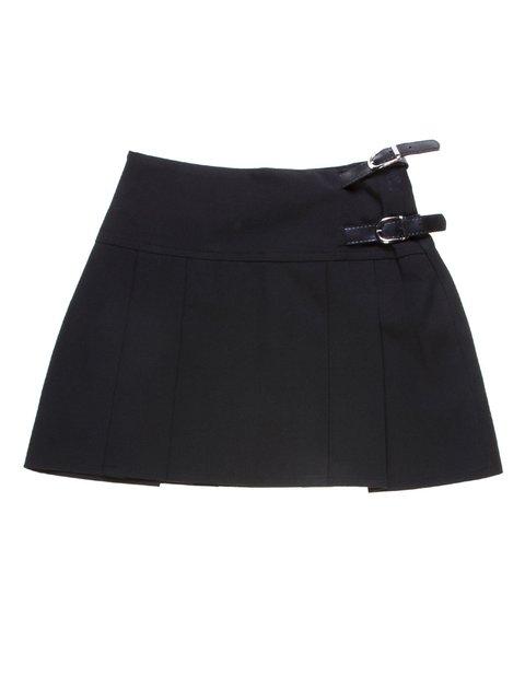 Юбка черная с ремешками Vivien 1236735