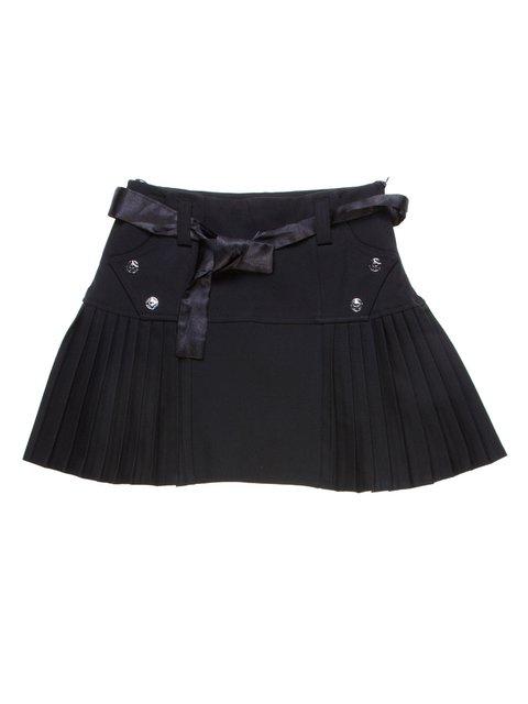 Юбка черная со складками-плиссе Vivien 1236966