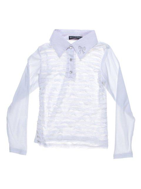 Блуза белая с декором Love Alice 1236753
