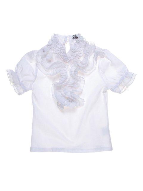 Блуза біла з оборками HOOLY GUY 1236946
