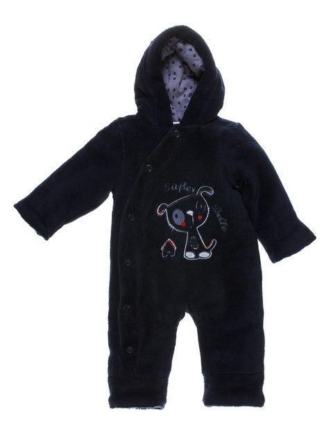 Комбинезон темно-синий с вышивкой велюровый Berti 1256665