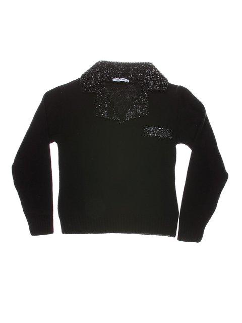 Джемпер чорний з люрексом теплий CHELA 1269833