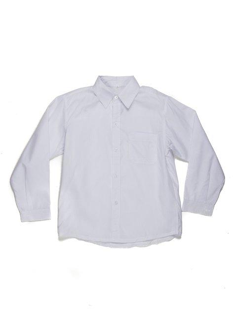 Рубашка белая с накладным карманом Vusae 449427
