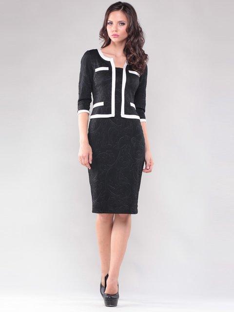 Платье черное со стилизованным жакетом Maurini 1324113