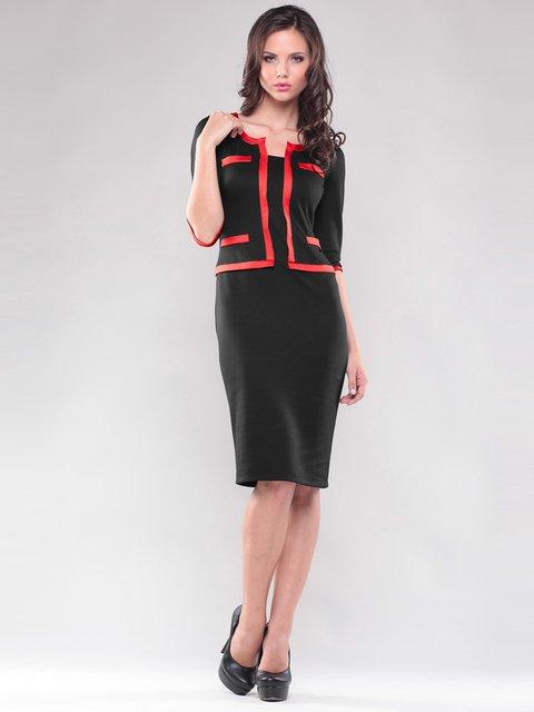 Платье черное со стилизованным жакетом Maurini 1343734