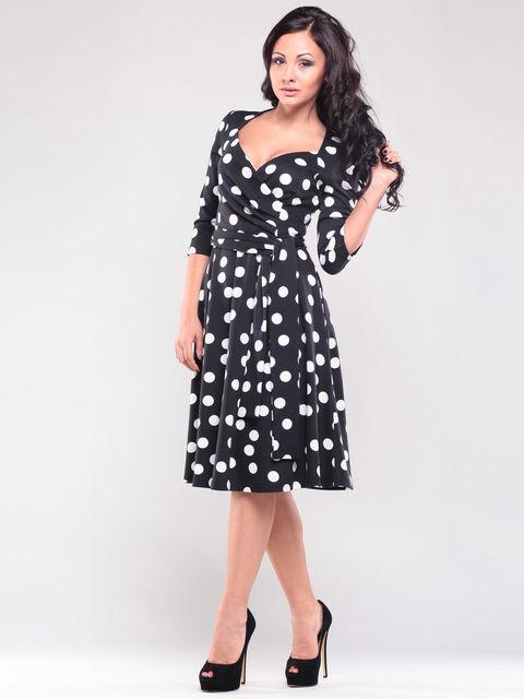 Платье черное в горошек Maurini 1365094