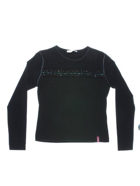 Джемпер черный с рюшами и декором LOOKS PRETTY 1364759
