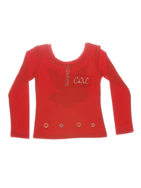 Джемпер красный декорированный ColaBear 612434