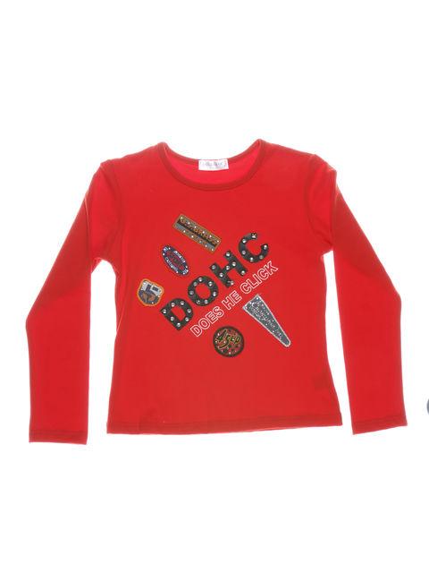 Джемпер красный с декорированными аппликациями ColaBear 712457