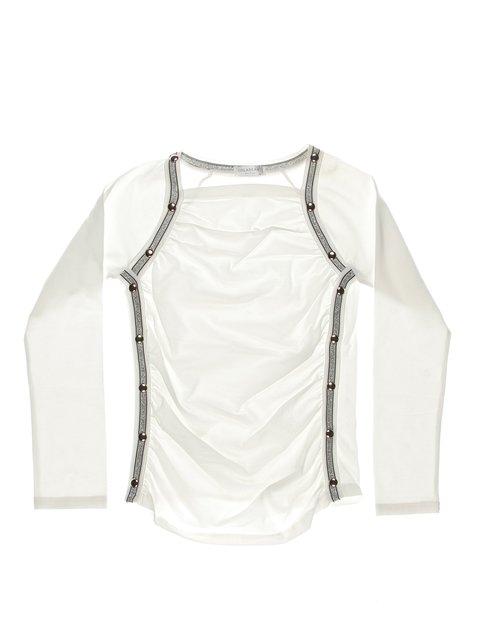 Блуза біла з контрастним оздобленням ColaBear 1364649