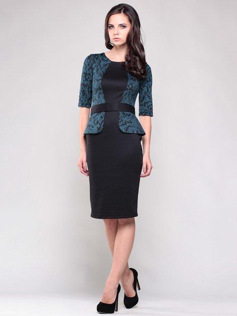 Сукня чорна зі стилізованим жакетом у візерунок Laura Bettini 1374842