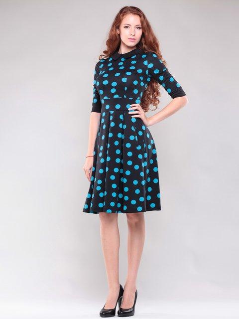 Платье черное в контрастный горох Maurini 1397205