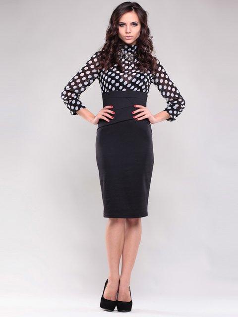Платье черное в горох Maurini 1397210