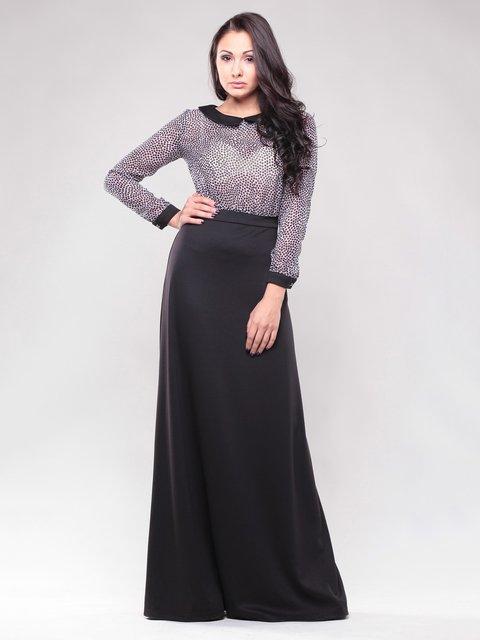 Платье черное в горох Dioni 1428385