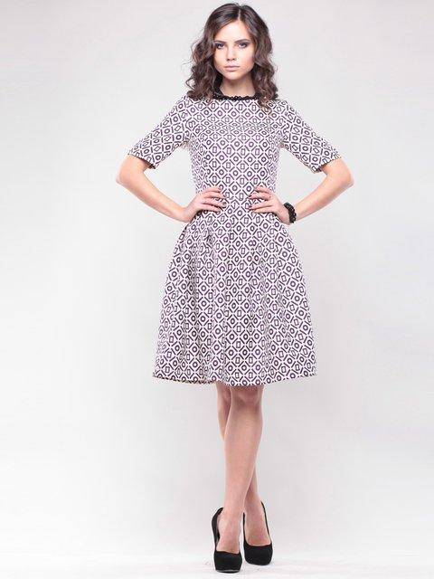 Платье бело-сиреневое в принт Maurini 1438922